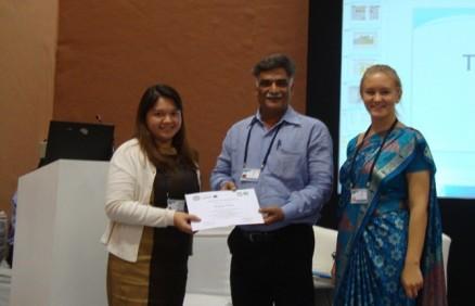 Director-HWA-Dr.Rajanikant-honoured-by-Assist-CEO-Ms.Olga-at-ADB-Annua-Meet-at-Greater-Noida-on-3rd-May2013